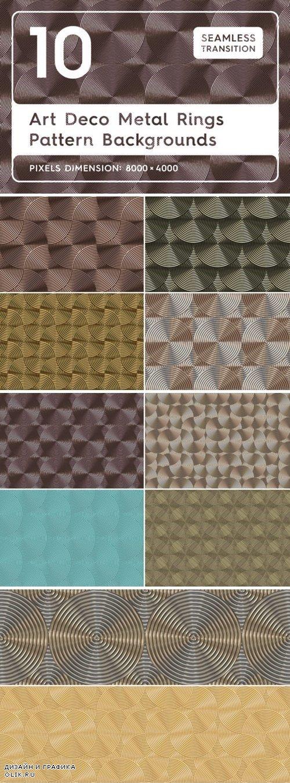 10 Art Deco Metal Rings Patterns 3988036