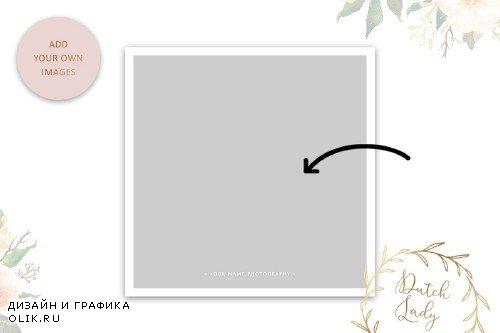 PSD Wedding Photo Card Template #5 - 3986772
