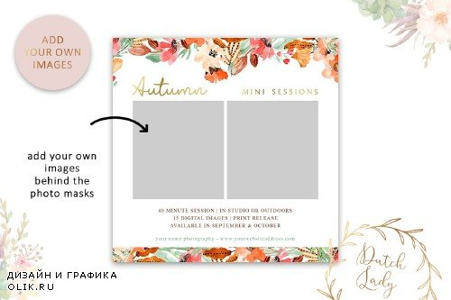 PSD Photo Session Card Template #46 - 3987313