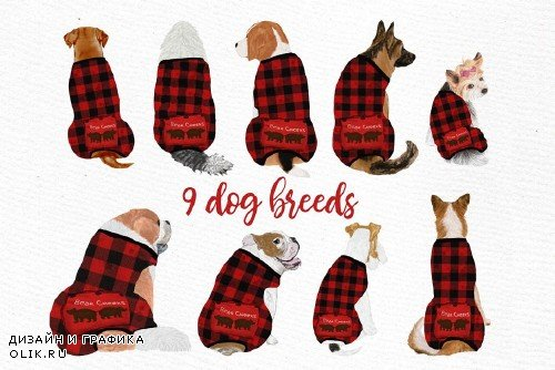 Dogs Clipart, Baby Clipart, Christmas - 3989050