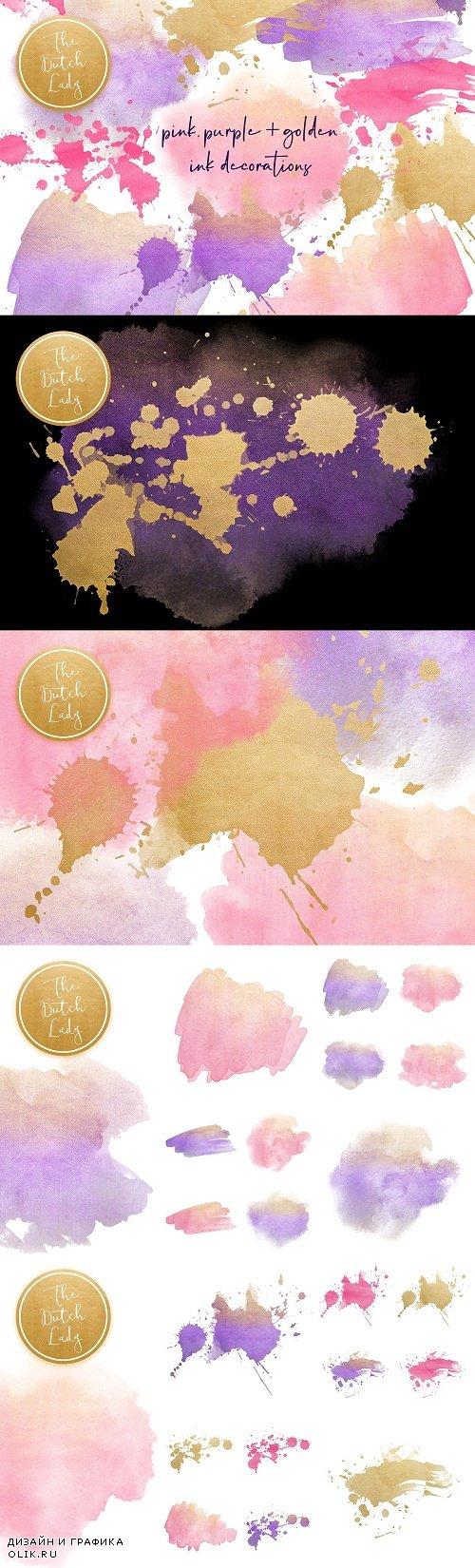 Ink & Paint Decorations Clipart Set - 3998047