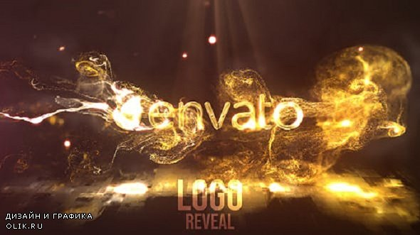 Gold Fluid Flame Reveal - Project for After Effects (Videohive)