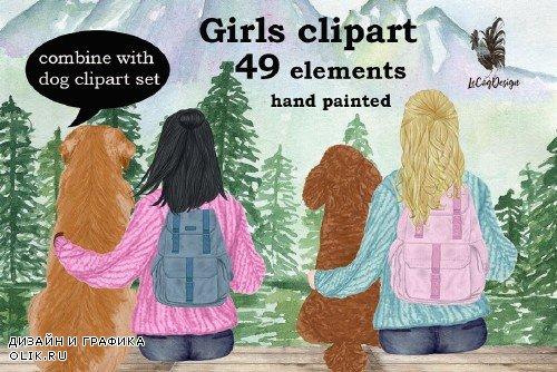 Girls clipart, Best Friend Clipart - 3996463