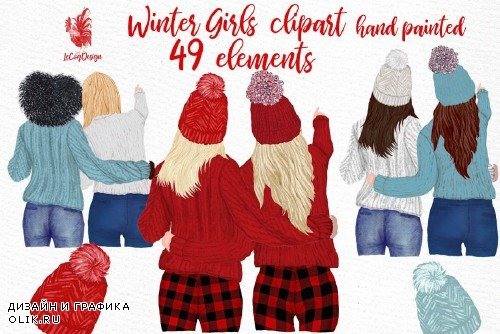 Girls Clipart Best friends clipart - 3998380