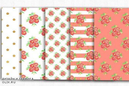 Floral Digital Paper, Floral Pattern - 3995597
