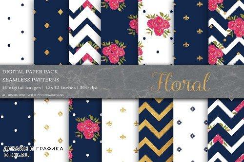 Floral Digital Papers - 3998408
