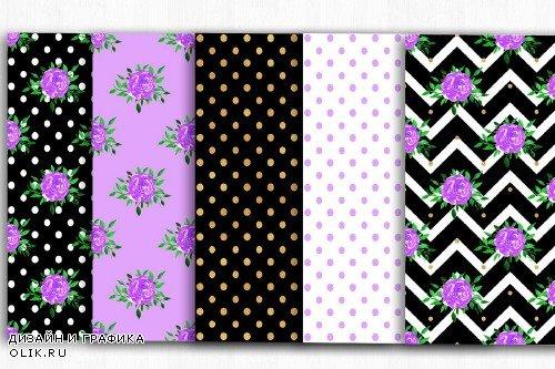 Floral Digital Paper, Floral Pattern - 3993749
