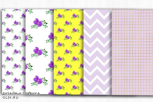 Floral Digital Papers Shabby Chic - 3999887