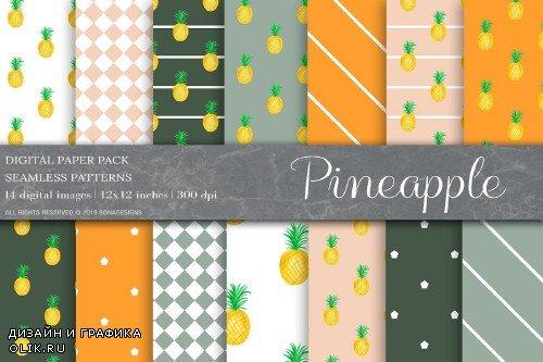 Pineapple Fruit Digital Paper - 4008797