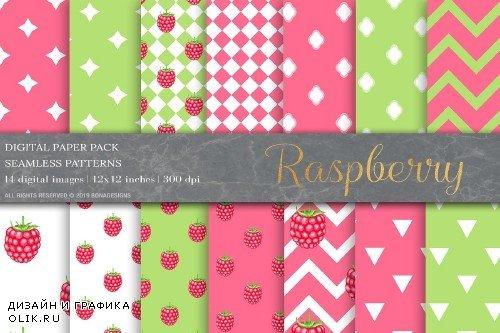 Raspberry Fruit Digital Paper - 4008765