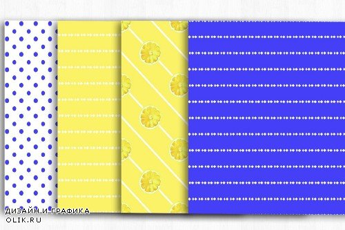 Lemons Digital Papers, Fruit Pattern - 4001886