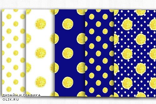 Lemon Digital Papers, Summer Pattern - 4000748