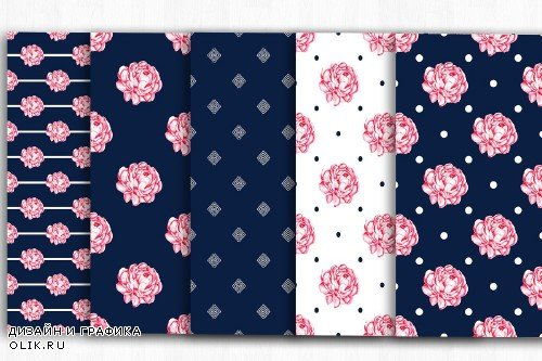 Floral Digital Papers, Shabby Chic - 4000231