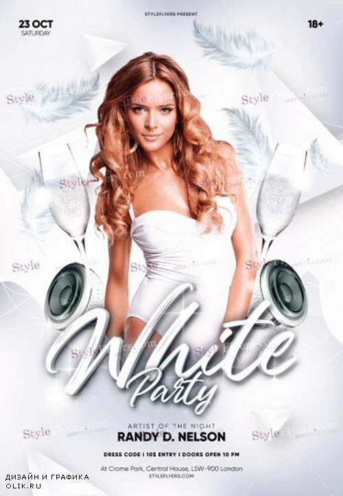 White Party V0708 2019 PSD Flyer Template