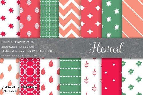 Floral Digital Papers,Patterns - 4008809