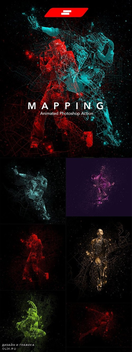 Gif Animated Mapping Photoshop Action 24223351