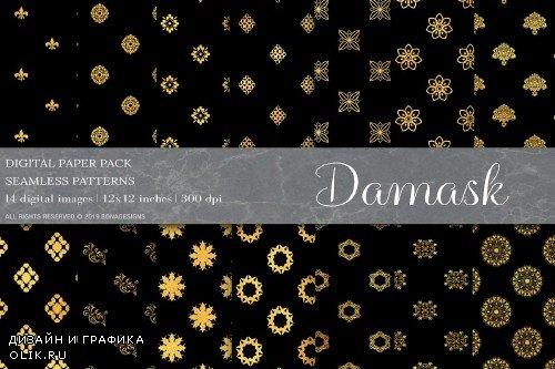 Gold Damask Digital Papers - 4009284