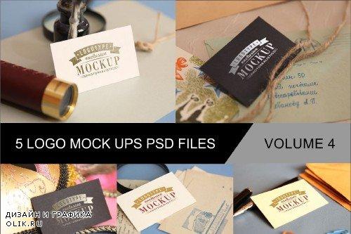 Photo Realistic Mock-ups Set of 5 V4 - 4011605