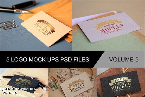 Photo Realistic Mock-ups Set of 5 V5 - 4011611