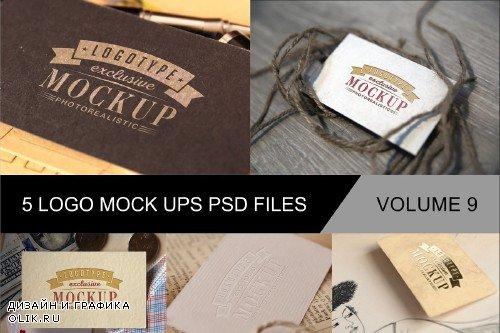 Photo Realistic Mock-ups Set of 5 V9 - 4014143