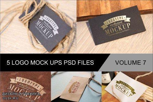 Photo Realistic Mock-ups Set of 5 V7 - 4011782