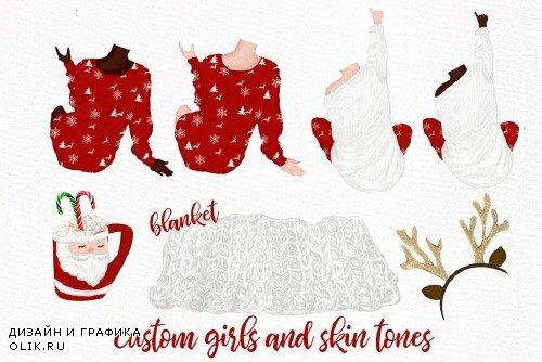 Christmas clipart, Girls Clipart - 4017063