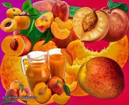 Клипарты для фотошопа - Персики