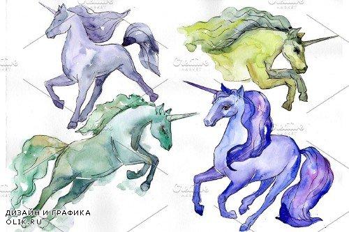 Image unicorn watercolor png - 4027340
