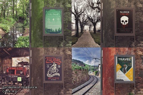 Outdoor Entrance Poster Backgrounds - 4023763
