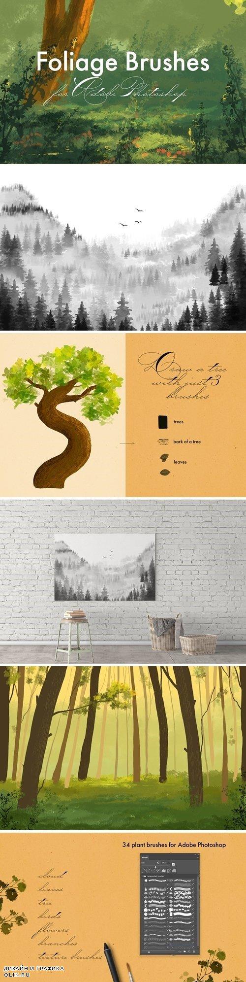 Foliage Brushes for Adobe Photoshop - 2960760