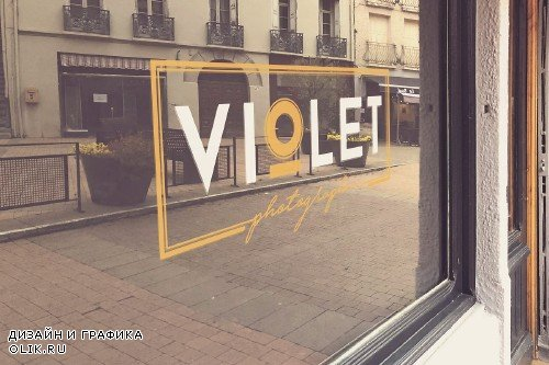 Shop Window Logo Mockup - 4026135