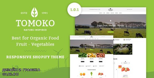 ThemeForest - Tomoko v1.0.1 - Organic Food/Fruit/Vegetables Responsive Shopify Theme - 16772428