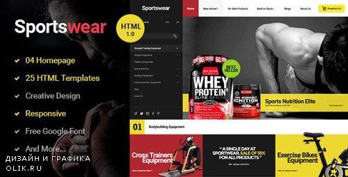 ThemeForest - Sportwear v1.0.0 - Multi Store Responsive HTML Template - 14647635
