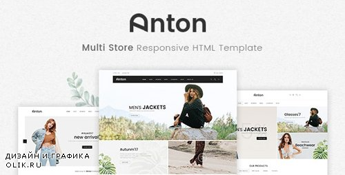 ThemeForest - Anton v1.0.0 - Multi Store Responsive HTML Template - 21245980