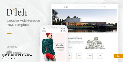 ThemeForest - D'leh v1.0 - Creative Multi-Purpose HTML Template - 21322275