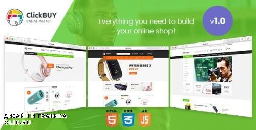 ThemeForest - ClickBuy v1.0.0 - Multi Store Responsive HTML Template - 20480682
