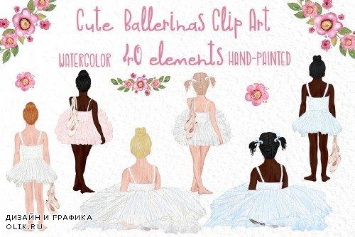 Cute Ballerina Clipart, Ballet dance - 4042794