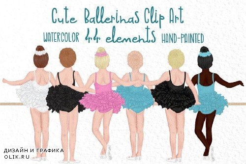 Cute Ballet Dancers clipart - 4045313