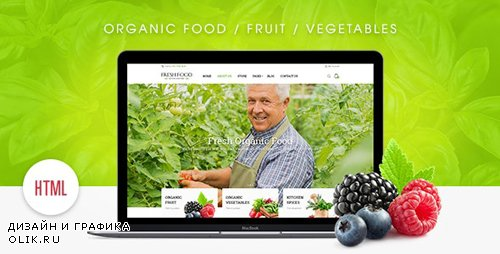 ThemeForest - Fresh Food v1.0.0 - Organic Food/Fruit/Vegetables eCommerce HTML Template - 19643160