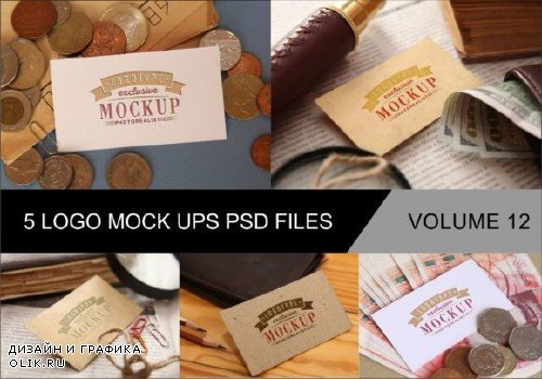 Photo Realistic Mock-ups Set of 5 V12 - 4043551