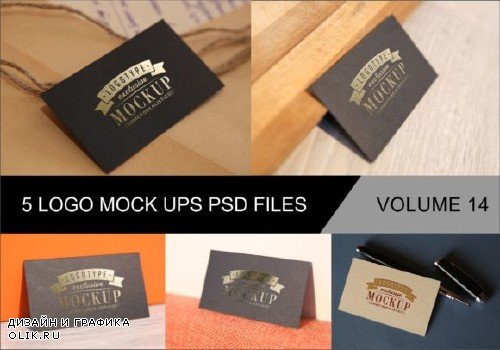 Photo Realistic Mock-ups Set of 5 V14 - 4044439