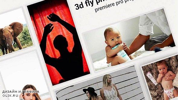 3d Fly Photos Slideshow 272404 - Premiere Pro Templates