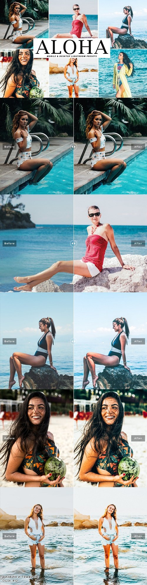 Aloha Lightroom Presets Pack - 4051018