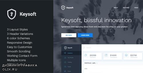 ThemeForest - KeySoft v1.1 - Software Landing Page - 13766006