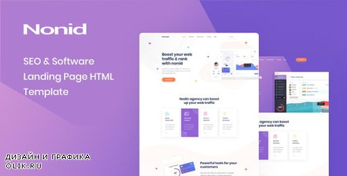 ThemeForest - Nonid v1.0 - SEO & Software Landing Page HTML Template - 24025196