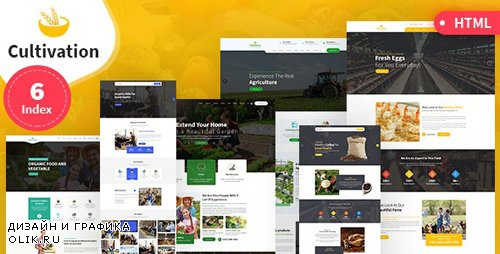 ThemeForest - Cultivation v1.0 - Multipurpose Responsive HTML Template (Update: 12 June 19) - 23900235