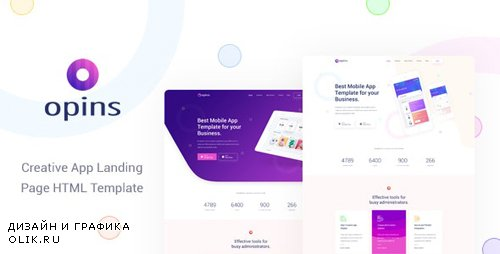 ThemeForest - Opins v1.0 - Creative App Landing Page HTML Template (Update: 17 July 19) - 23750660