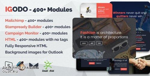 ThemeForest - Igodo v1.0.1 - Multipurpose Email Set with 400+ Modules + MailChimp Editor + StampReady + Online Builder - 20299979