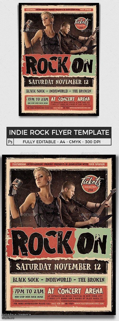 Indie Rock Flyer Template V4 - 24497162 - 4066639