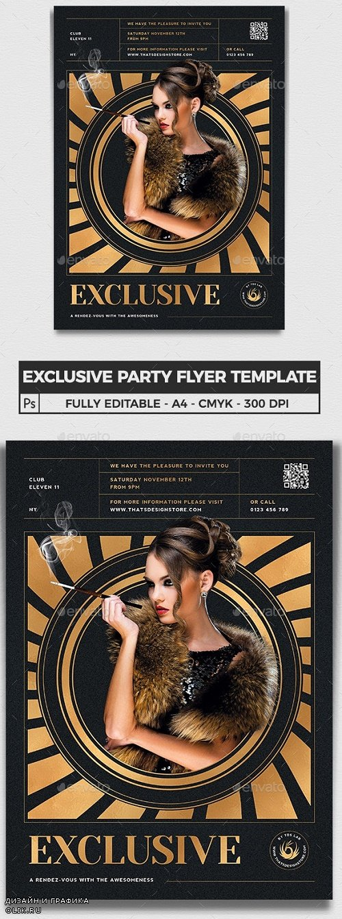 Exclusive Party Flyer Template V3 - 24462376 - 4055571